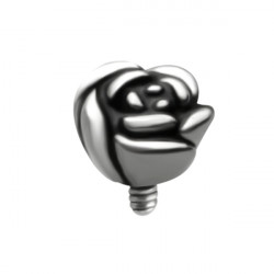 Surgical Steel Internal Thread Rose Microdermal
