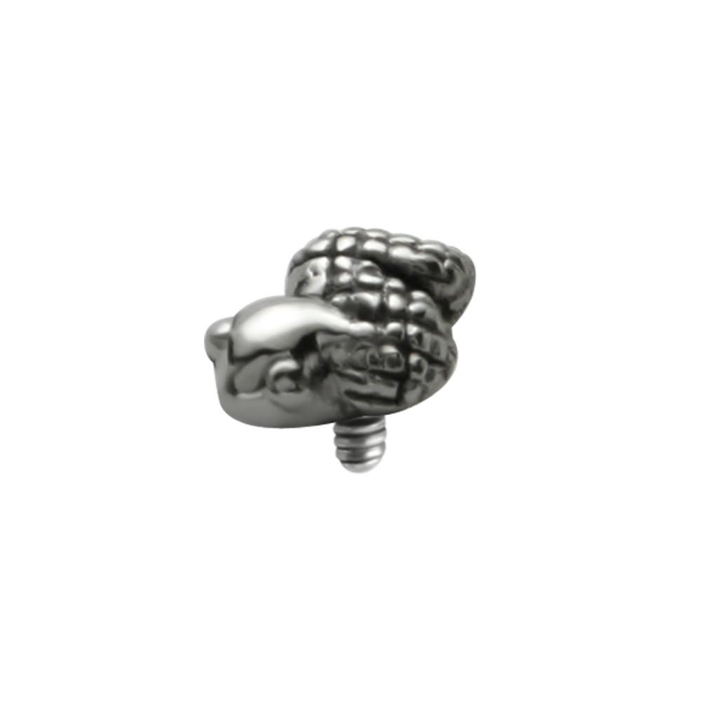 Surgical Steel Internal Thread Snake Microdermal