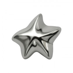 Surgical Steel Internal Thread Star Microdermal