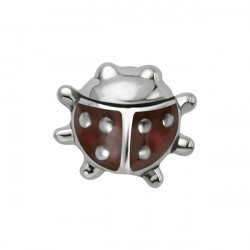 Surgical Steel Internal Thread Ladybug Microdermal