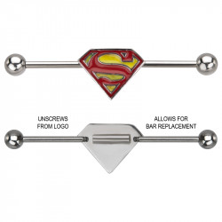 Surgical Steel Superman Logo Industrial