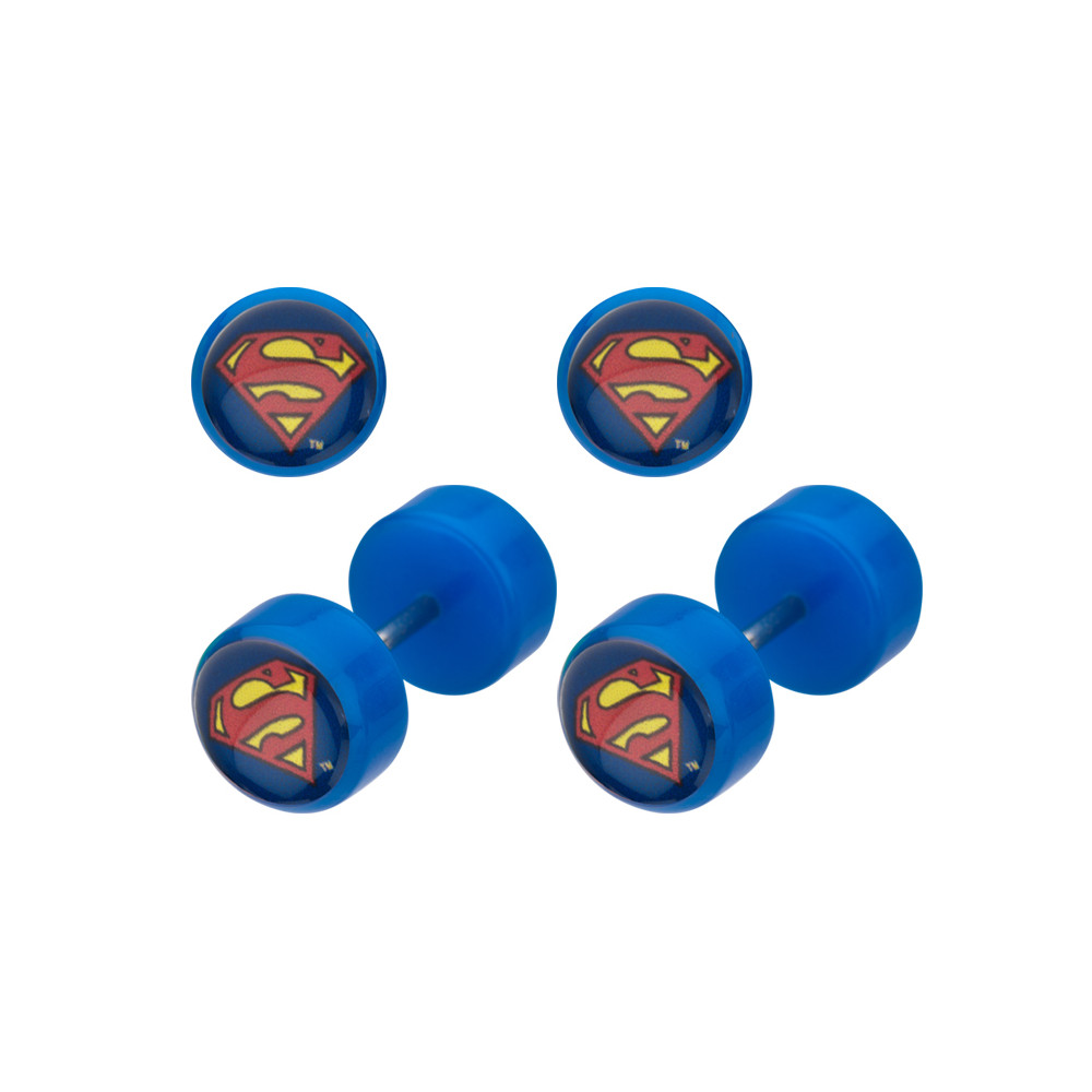 Acrylic Superman Logo False Plug