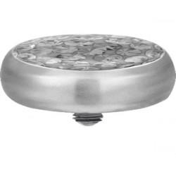 Titanium Epoxy Covered Disco Gem Flat Disc for Microdermal