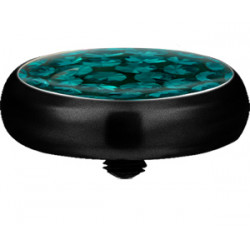 Black Titanium Epoxy Covered Disco Gem Flat Disc for Microdermal