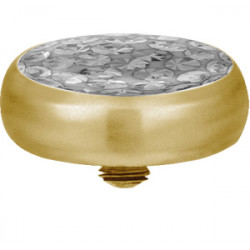 Gold Plated Titanium Epoxy Covered Disco Gem Flat Disc for Microdermal