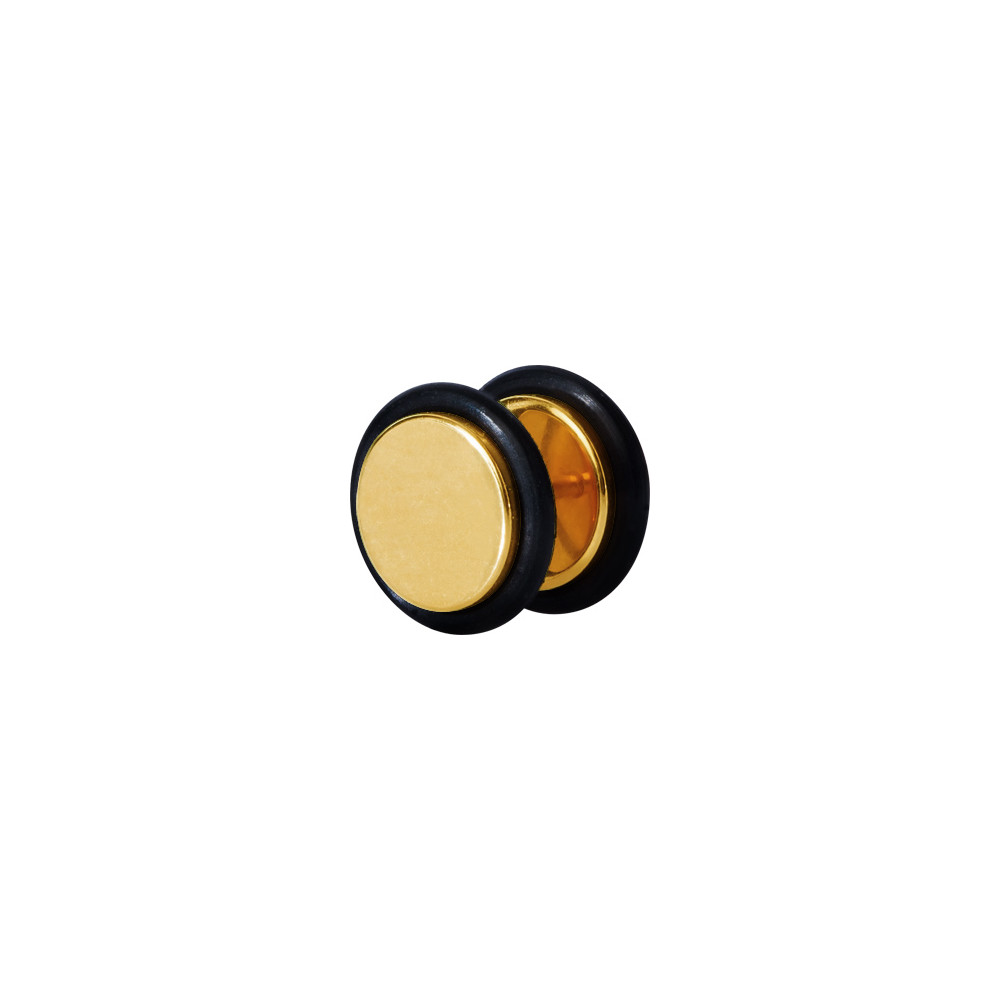 Gold Plated Surgical Steel False Plug with Orings