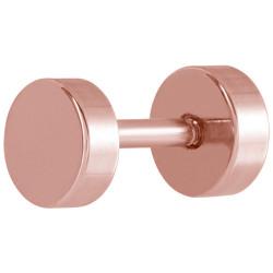 Rose Gold Plated Surgical Steel Disc False Plug