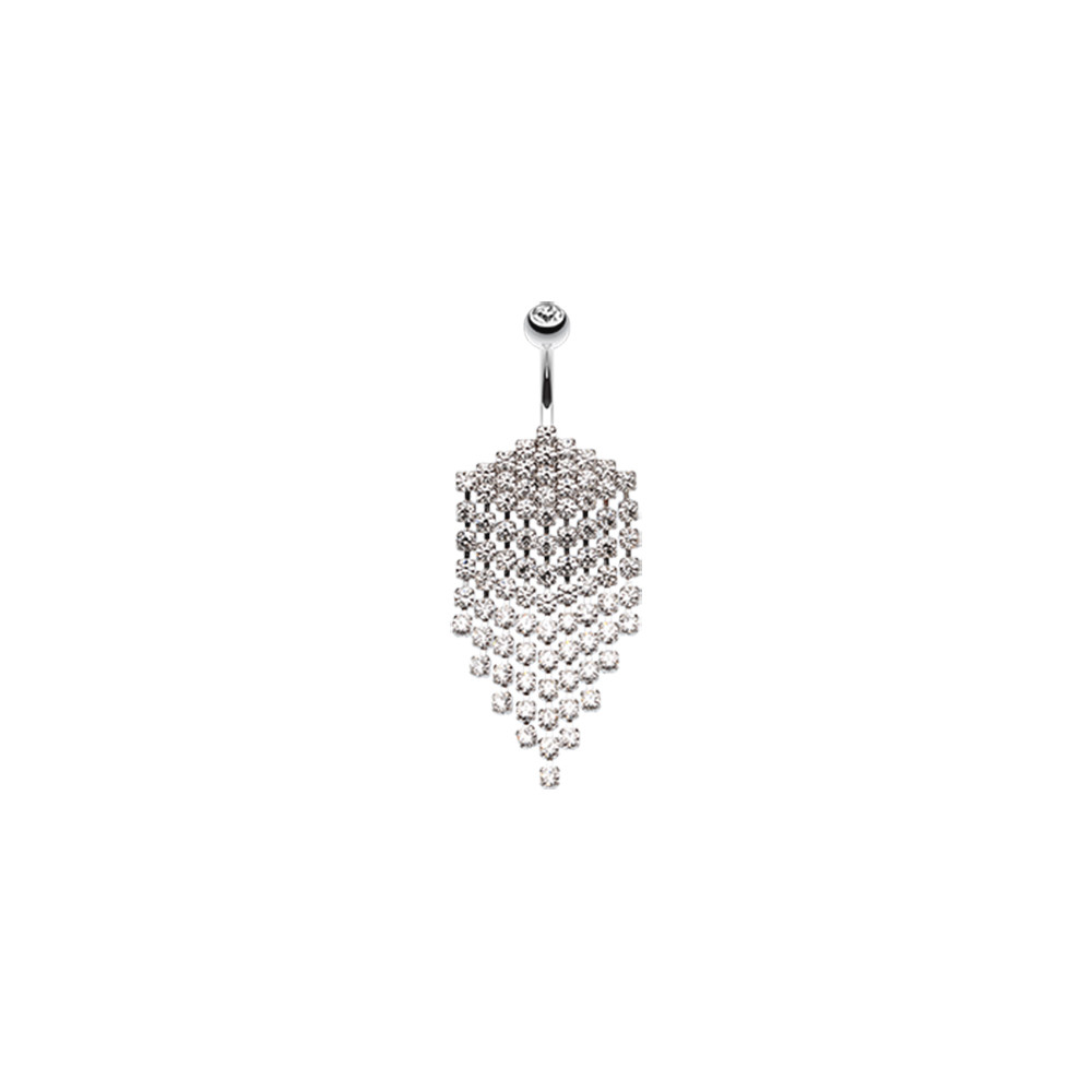 Surgical Steel Shimmering Chandelier Drape Dangle Belly Button Ring
