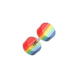 Acrylic Multicolored False Plugs