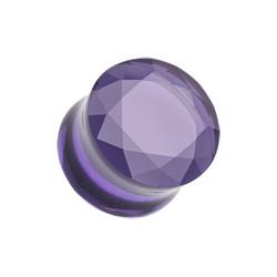 Pyrex Glass Gemstone Double Flared Plug