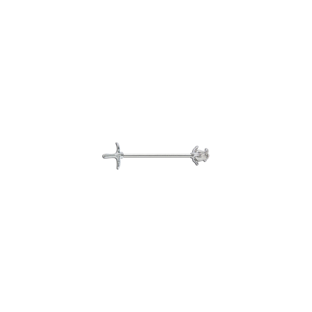 Surgical Steel Rose Industrial Barbell
