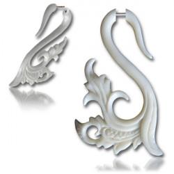 Filigree Swirl Bone False Spiral