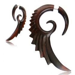 Narra Wood Long Wing False Spiral