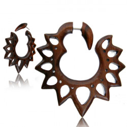 Narra Wood Pointy Cut Out Flower False Spiral
