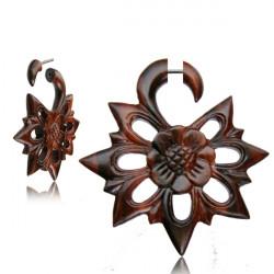 Narra Wood Cut Out Flower False Spiral