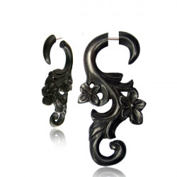 Arang Wood Filigree & Flower False Spiral