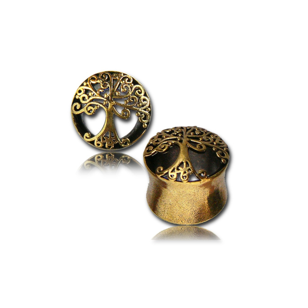 Brass Tree of Life Cut Out Plug