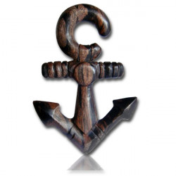 Narra Wood Detailed Anchor Spiral