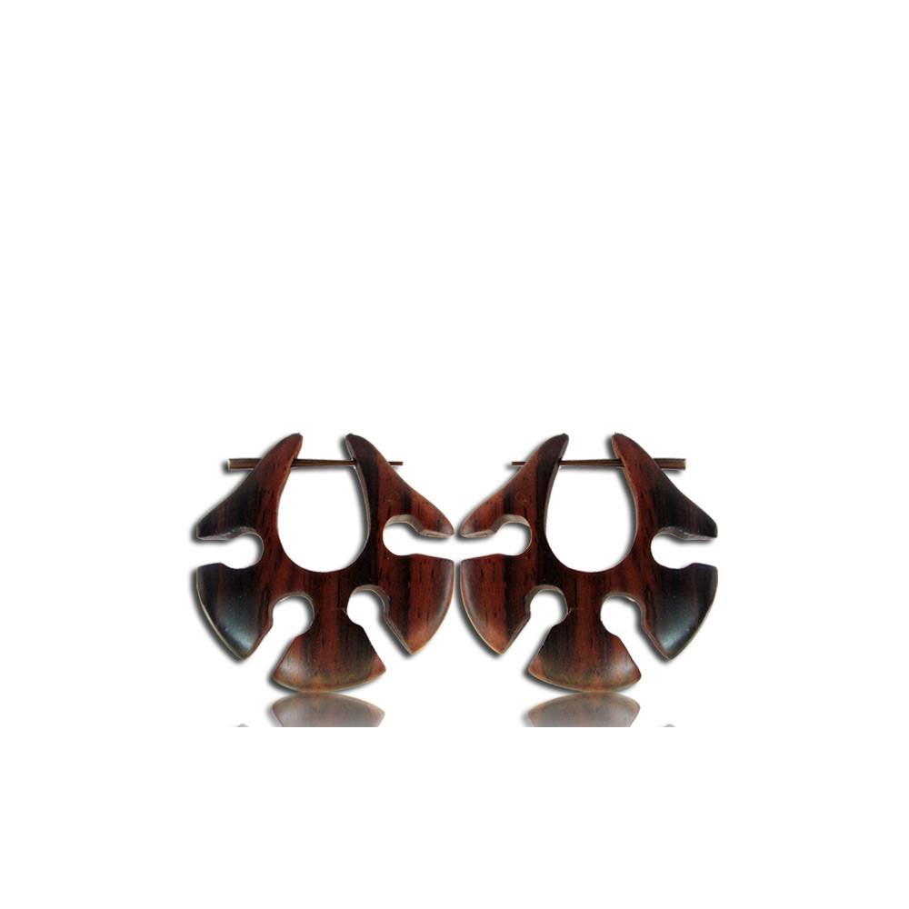 Narra Wood Pin Earrings