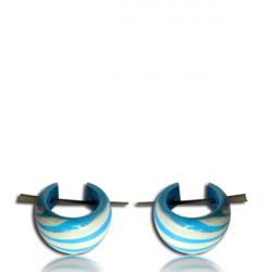 Hand Painted Narra Wood Pin Earrings