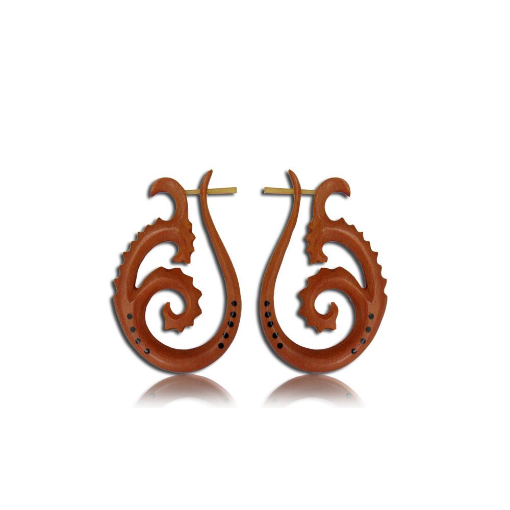 Sawo Wood Pin Earrings