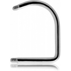 Surgical Steel Externally Threaded Lip Hoop Pin