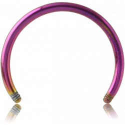 Anodized Surgical Steel Externally Threaded Horseshoe Pin