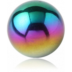 Anodized Surgical Steel Dimpled Ball for CBR