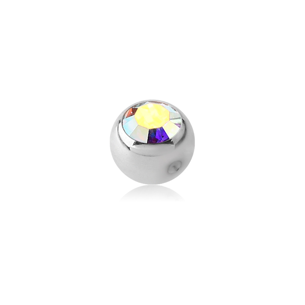 Surgical Steel Jeweled Dimple Ball for CBR