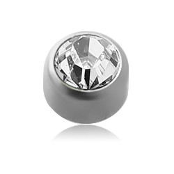 Surgical Steel Jeweled Flat Dimple Ball for CBR