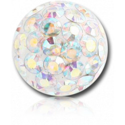 Surgical Steel Epoxy Covered Disco Gem Dimple Ball for CBR