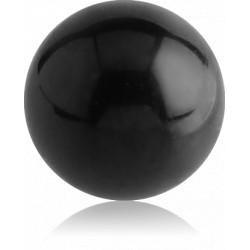 Black Surgical Steel Externally Threaded Ball