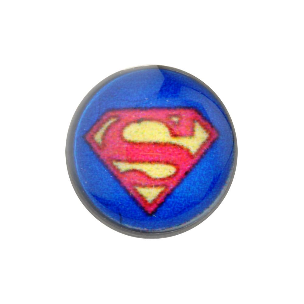 Acrylic Mechanical Plug with Superman Logo