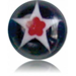 External Thread Acrylic Glittering Murano Ball