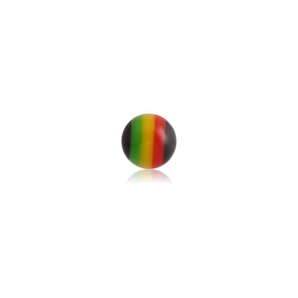 External Thread Acrylic Black Rasta Ball