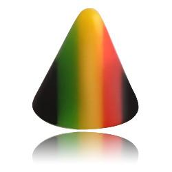 External Thread Acrylic Black Rasta Spike