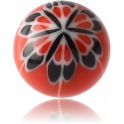 External Thread Acrylic Flower Design Ball