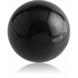 Black Surgical Steel External Thread Ball