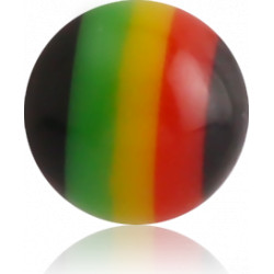 External Thread Acrylic Black Rasta Ball
