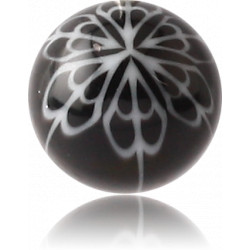 External Thread Acrylic Flower Design Ball