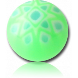 External Thread Acrylic Fancy Dot Design Ball