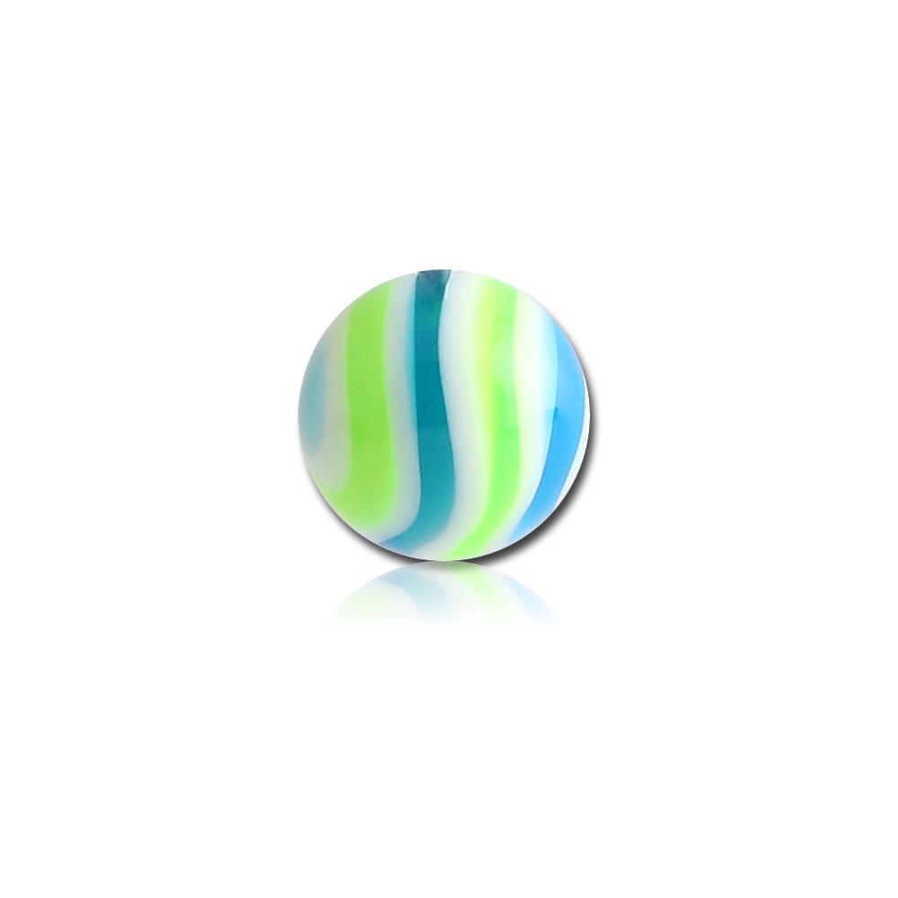 External Thread Candy Wave Acrylic Ball