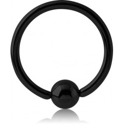 Black Titanium Ball Closure Ring