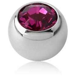 Titanium Externally Threaded Jeweled Ball