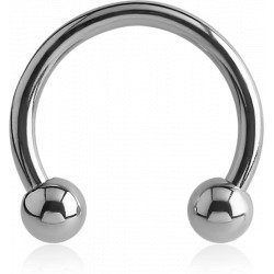 Surgical Steel Externally Threaded Horseshoe with External Thread Balls