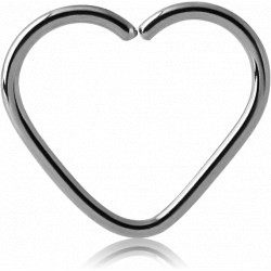 Surgical Steel Heart Continuous Ring