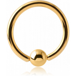 Gold Plated Surgical Steel Closure Ball Ring