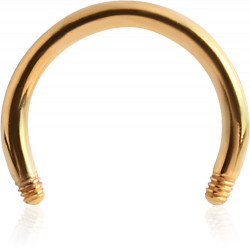 Gold Plated Surgical Steel Externally Threaded Horseshoe Pin