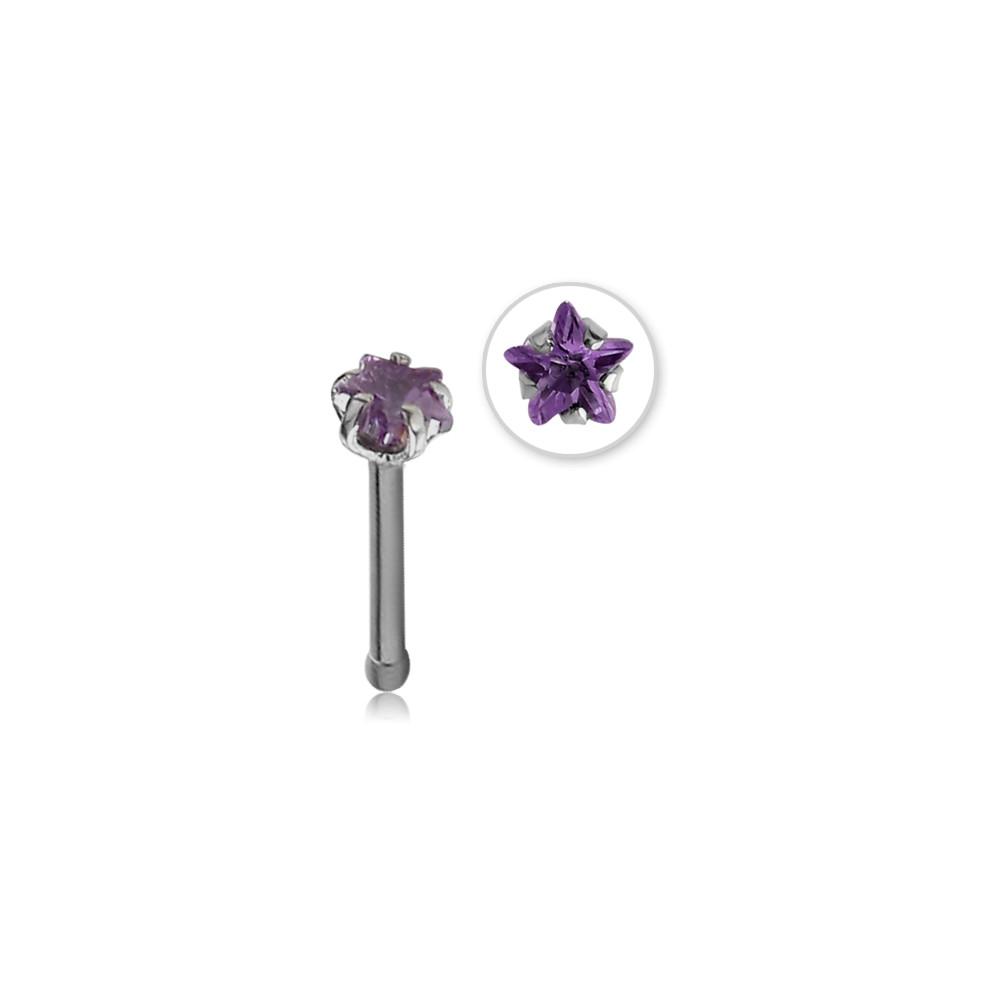 Surgical Steel Star Claw Set Gem Ball Stud