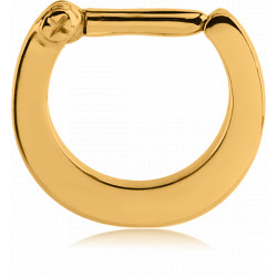 Gold Plated Surgical Steel Plain Septum Clicker